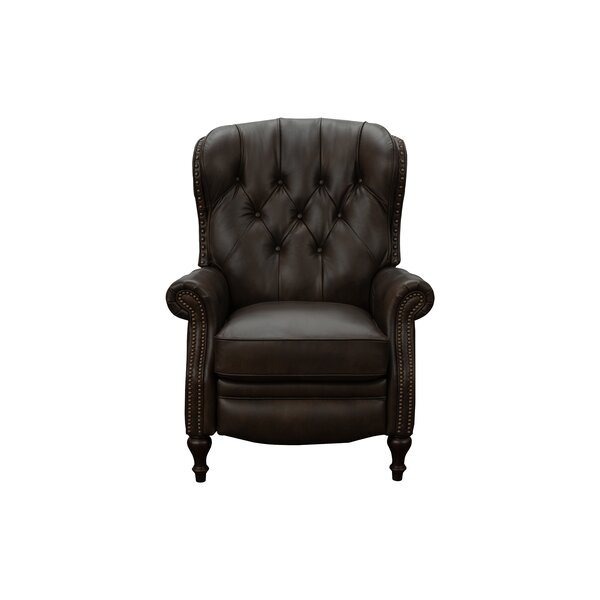Nadene Leather Manual Recliner By Canora Grey