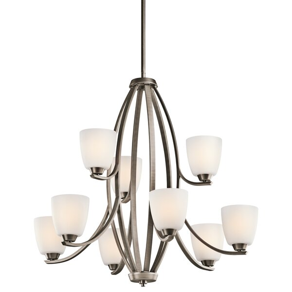 Surrey 9 - Light Shaded Empire Chandelier by Red Barrel Studio Red Barrel Studio