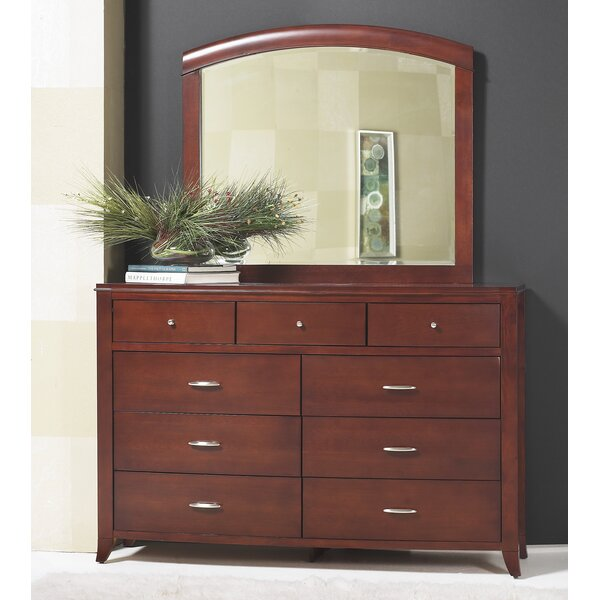 Bridgton 9 Drawer Dresser with Mirror by Darby Home Co