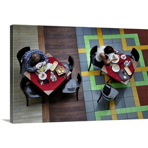 Lunch with Facebook Friends Photographic Print on Canvas by Canvas On Demand