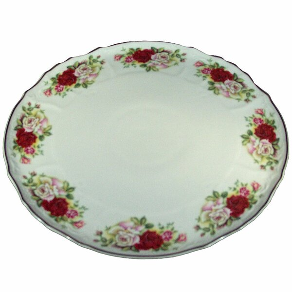 Jayson Rose Round Tart Dish Platter by Astoria Grand