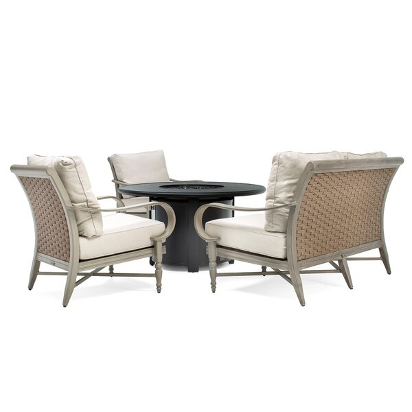 Beckwith Fire Pit 4 Piece Sofa Seating Group With Cushions By Canora Grey