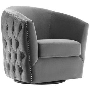 Fantastic Mckinnon Performance Velvet Swivel Barrel Chair Machost Co Dining Chair Design Ideas Machostcouk