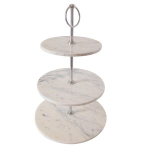 Marble 3 Tier Cake Stand  sc 1 st  Wayfair & 3 Tiered Plate Stand | Wayfair