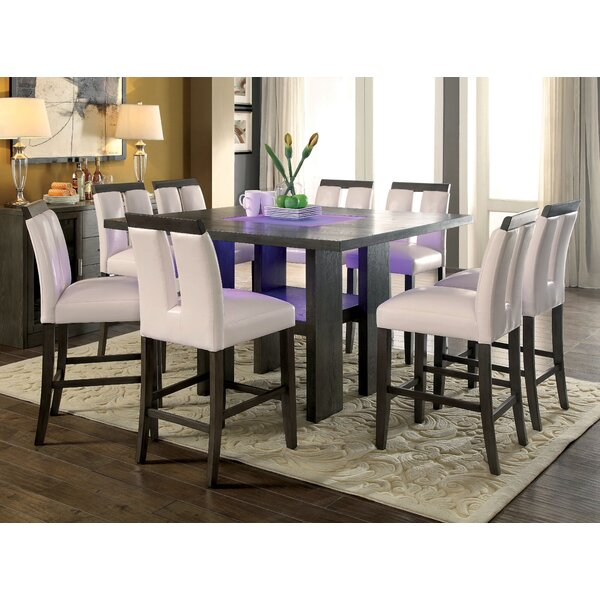Travis 9 Piece Dining Set by Latitude Run