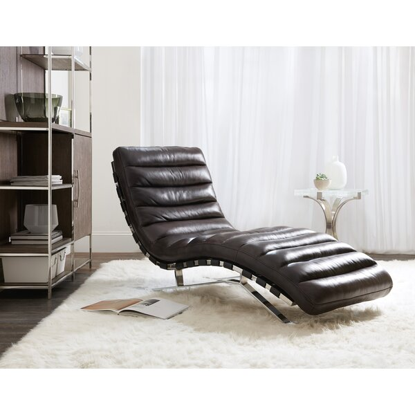 Caddock Leather Chaise Lounge By Hooker Furniture