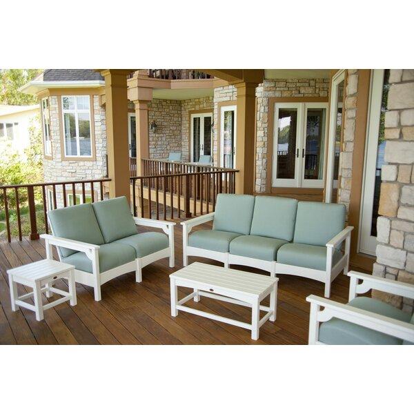 Club 5 Piece Deep Sofa Seating Group by POLYWOOD®