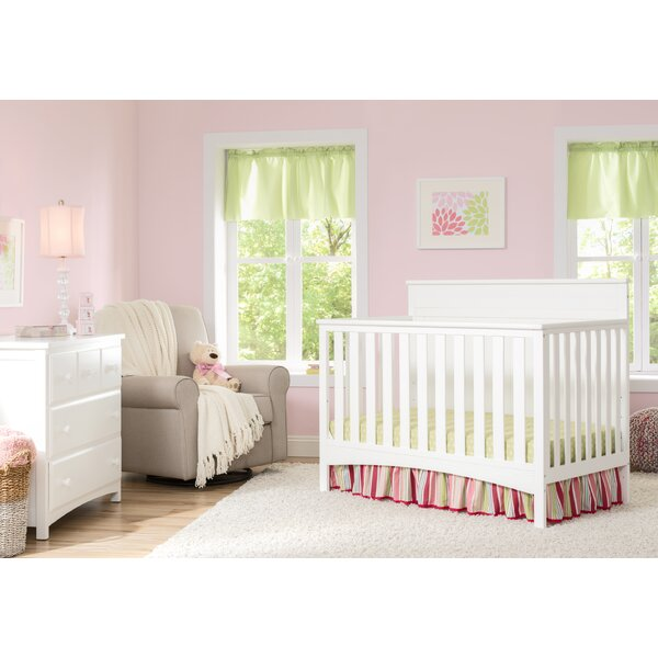 Fancy 4-in-1 Convertible 2 Piece Crib Set by Delta