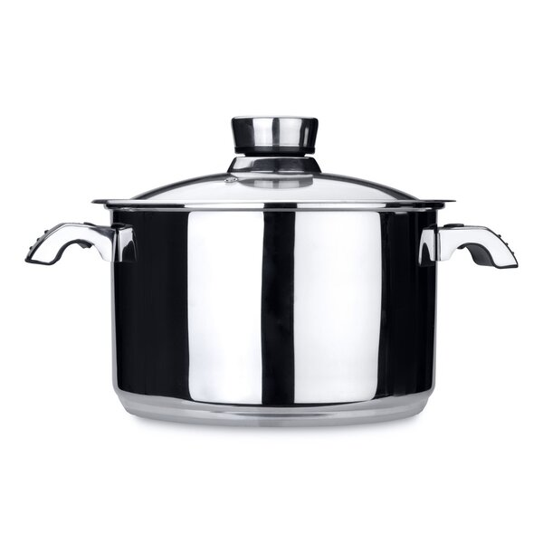 Invico Vitrum 7-qt. Stock Pot with Lid by BergHOFF International
