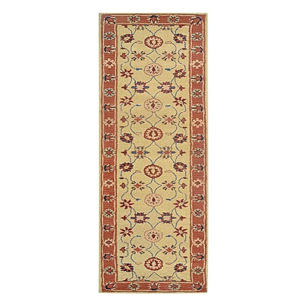 Creamer Hand-Tufted Gold rust/Ivory Area Rug by Darby Home Co