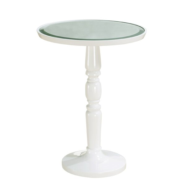 Arla Round Pedestal End Table by Longshore Tides