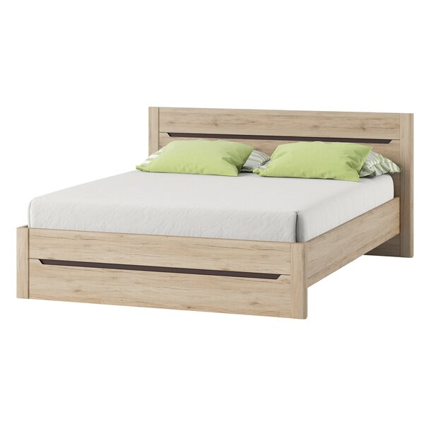 Hopedale Queen Platform Bed with Mattress by Loon Peak