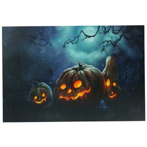 'Spooky Halloween Jack-O-Lanterns' Graphic Art Print on Canvas by The Holiday Aisle