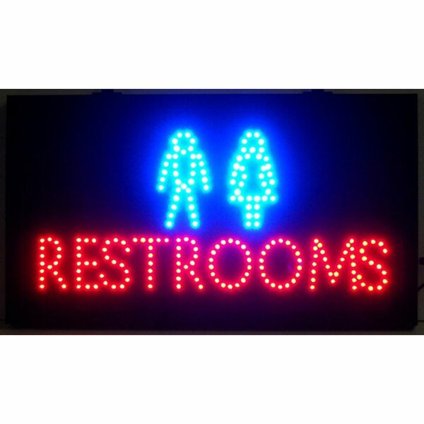 Restrooms LED Sign by Neonetics