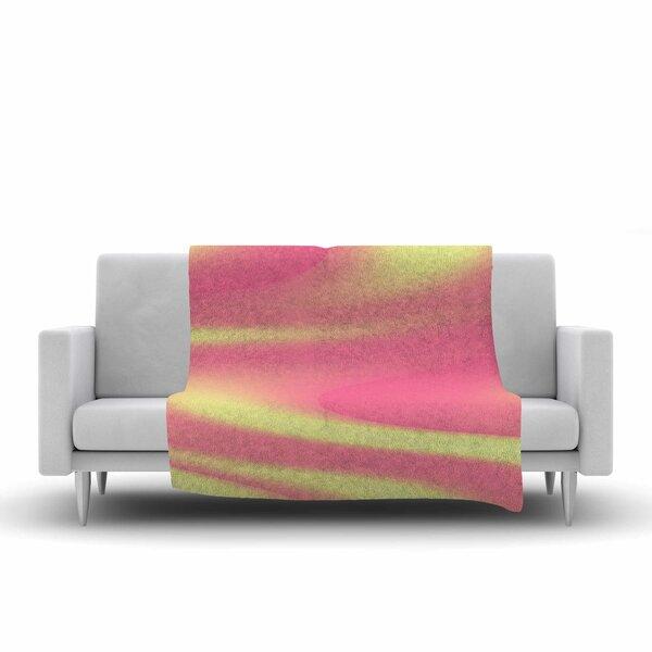 Sylvia Coomes Sherbert Swirl Fleece Throw by East Urban Home