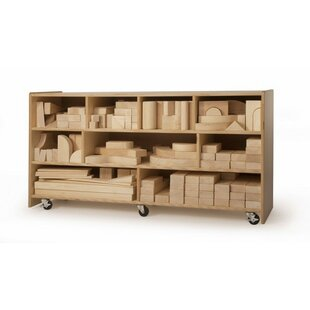 9 Compartment Shelving Unit With Wheels