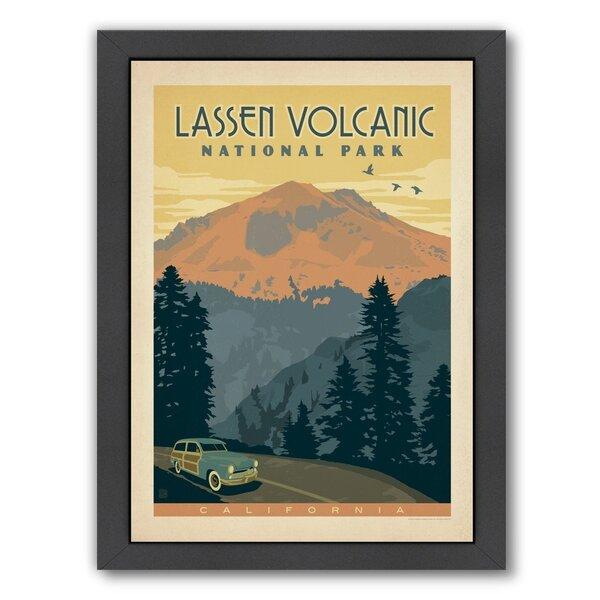 Lassen Volcanic National Park Framed Vintage Advertisement by East Urban Home