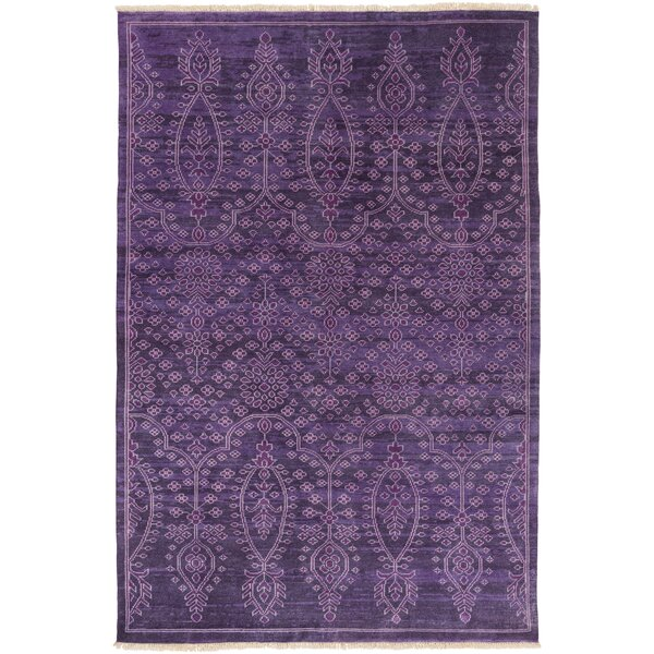 Heerlen Hand-Knotted Purple Area Rug by Bungalow Rose