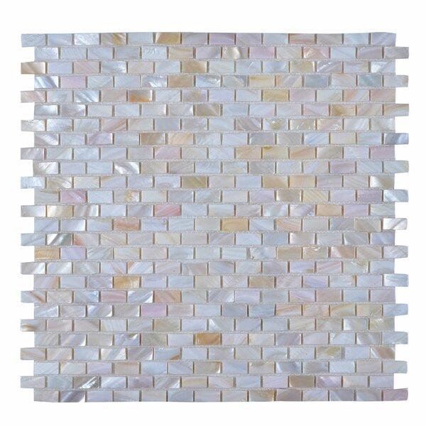Seashell Mosaic Tile in Glazed Pearl white by Legion Furniture