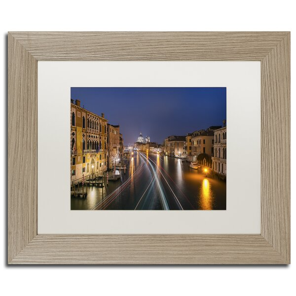 On the Grand Canal by Michael Blanchette Framed Graphic Art by Trademark Fine Art