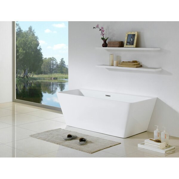 Mandalay Bellagio 59 x 28 Freestanding Soaking Bathtub by Pacific Collection
