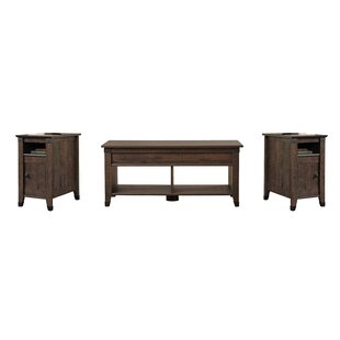 Review Ellicott Mills 3 Piece Coffee Table Set by Andover Mills