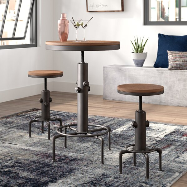 Carmona 3 Piece Adjustable Pub Table Set by Trent Austin Design