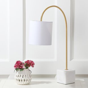 Best Price Holton Marble/Brass 25 Arched Table Lamp By Orren Ellis