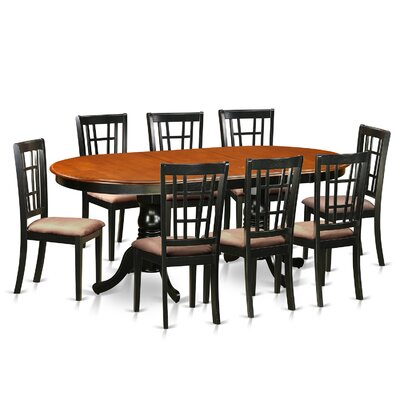 August Grove Pilcher Extendable Solid Wood Dining Set August Grove Pieces In Set 9 Warehouse Direct Furniture