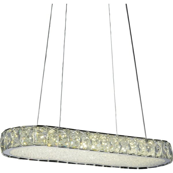 Baggett LED Light Crystal Chandelier by Orren Ellis