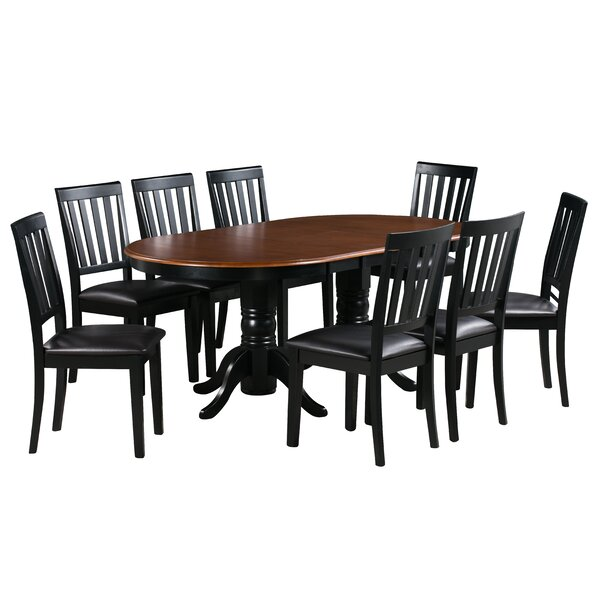 Sam 9 Piece Extendable Solid Wood Dining Set by Alcott Hill