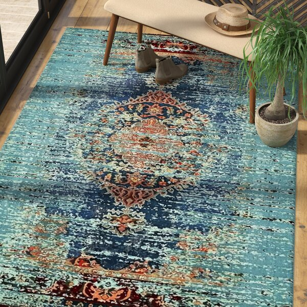 Glenn Blue Area Rug by Mistana