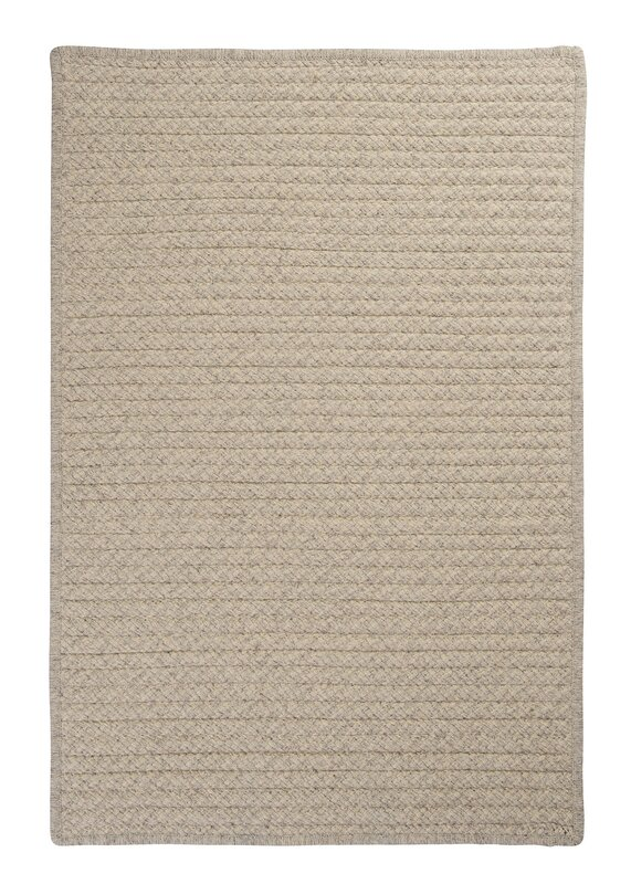 Awesome Natural Wool Houndstooth Braided Cream Area Rug