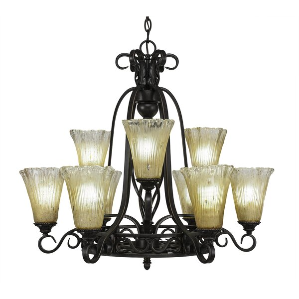 Pierro 9-Light Shaded Tiered Chandelier by Astoria Grand Astoria Grand