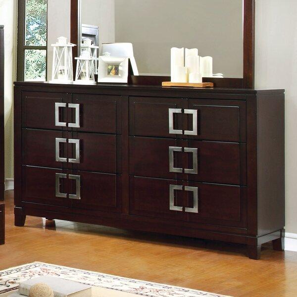 Suruga 6 Drawer Double Dresser by Latitude Run
