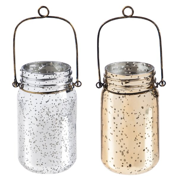 Mercury Glass Mason Jar Set (Set of 2) by House of Hampton