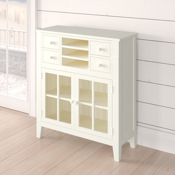 Hillendale 4 Drawer 2 Door Accent Cabinet by Breakwater Bay Breakwater Bay