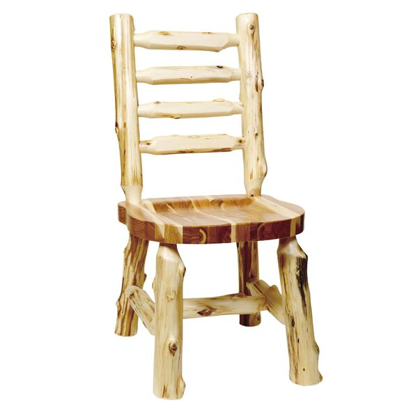 Traditional Cedar Log Solid Wood Dining Chair by Fireside Lodge