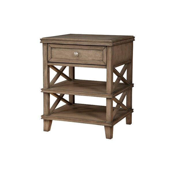 Trevino French Truffle 1 Drawer Nightstand by One Allium Way