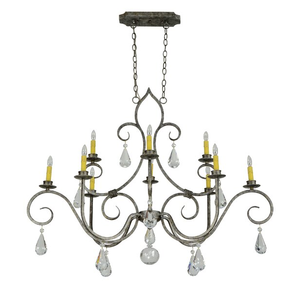 Leatherhead 10 - Light Candle Style Classic Chandelier With Crystal Accents By Astoria Grand