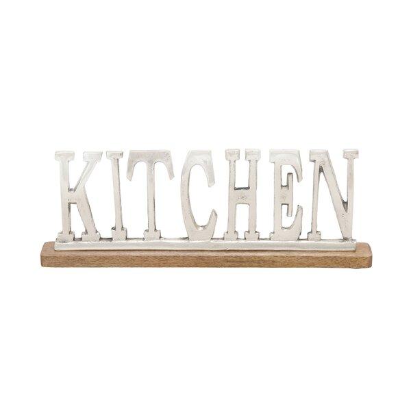 Silver  Kitchen Letter Block by Alcott Hill