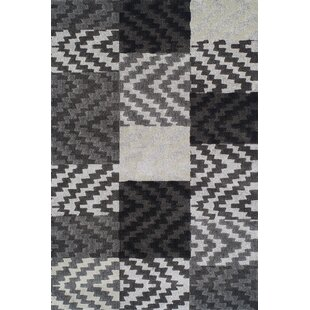 Reviews Rossiter Pewter Geometric Area Rug By Brayden Studio