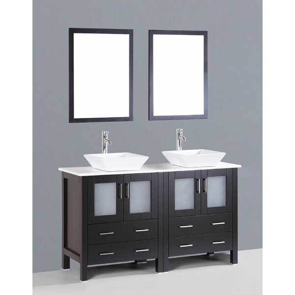 Netto 59 Double Bathroom Vanity Set with Mirror by Ebern Designs