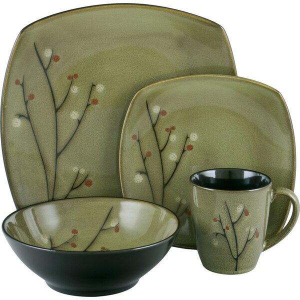 Blossom 16 Piece Dinnerware Set, Service for 4 by Sango