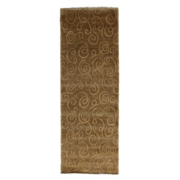 Metropolitan Hand-Knotted Wool Gold Area Rug by Exquisite Rugs