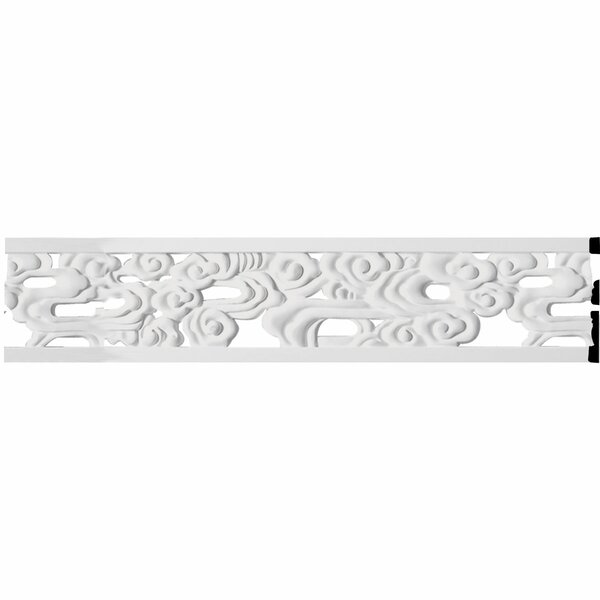 Flower 7H x 94 1/2W x 5/8D Pierced Panel Moulding by Ekena Millwork
