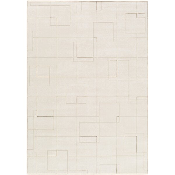 Chacon Modern White/Cream Area Rug by Corrigan Studio