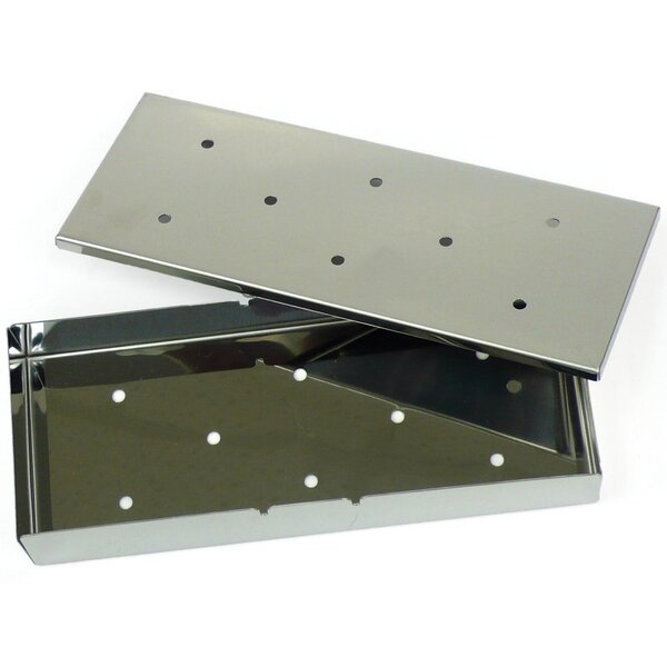 Stainless Steel Smoker Box with Lid by Mr. Bar-B-Q