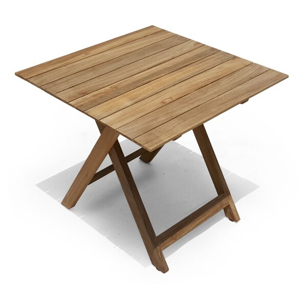 Pedersen Folding Teak Square Bistro Table by Bay Isle Home