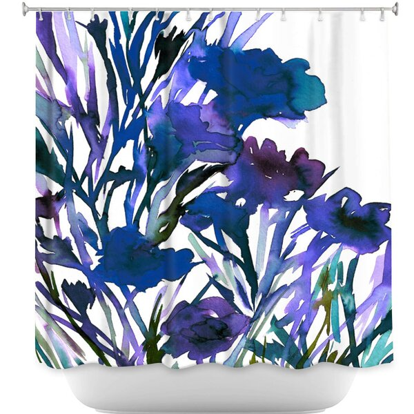 Petal Thoughts Shower Curtain by DiaNoche Designs
